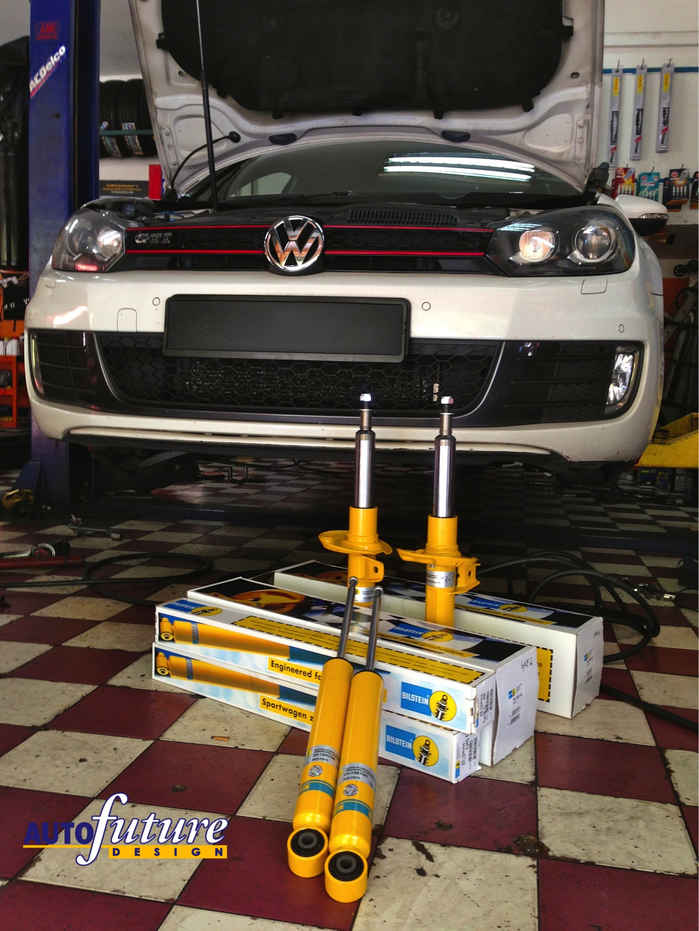 bilstein b8 shock absorber on vw golf mk6 gti autofuture design sdn bhd. Black Bedroom Furniture Sets. Home Design Ideas
