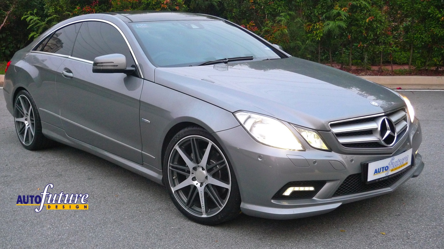 Mercedes benz e coupe w207 transformed with light alloy for Mercedes benz w207