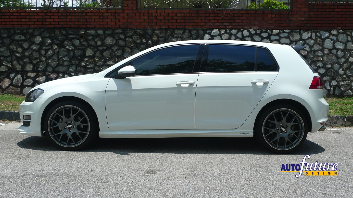 vw golf 7 with oettinger bodykits and bbs wheels
