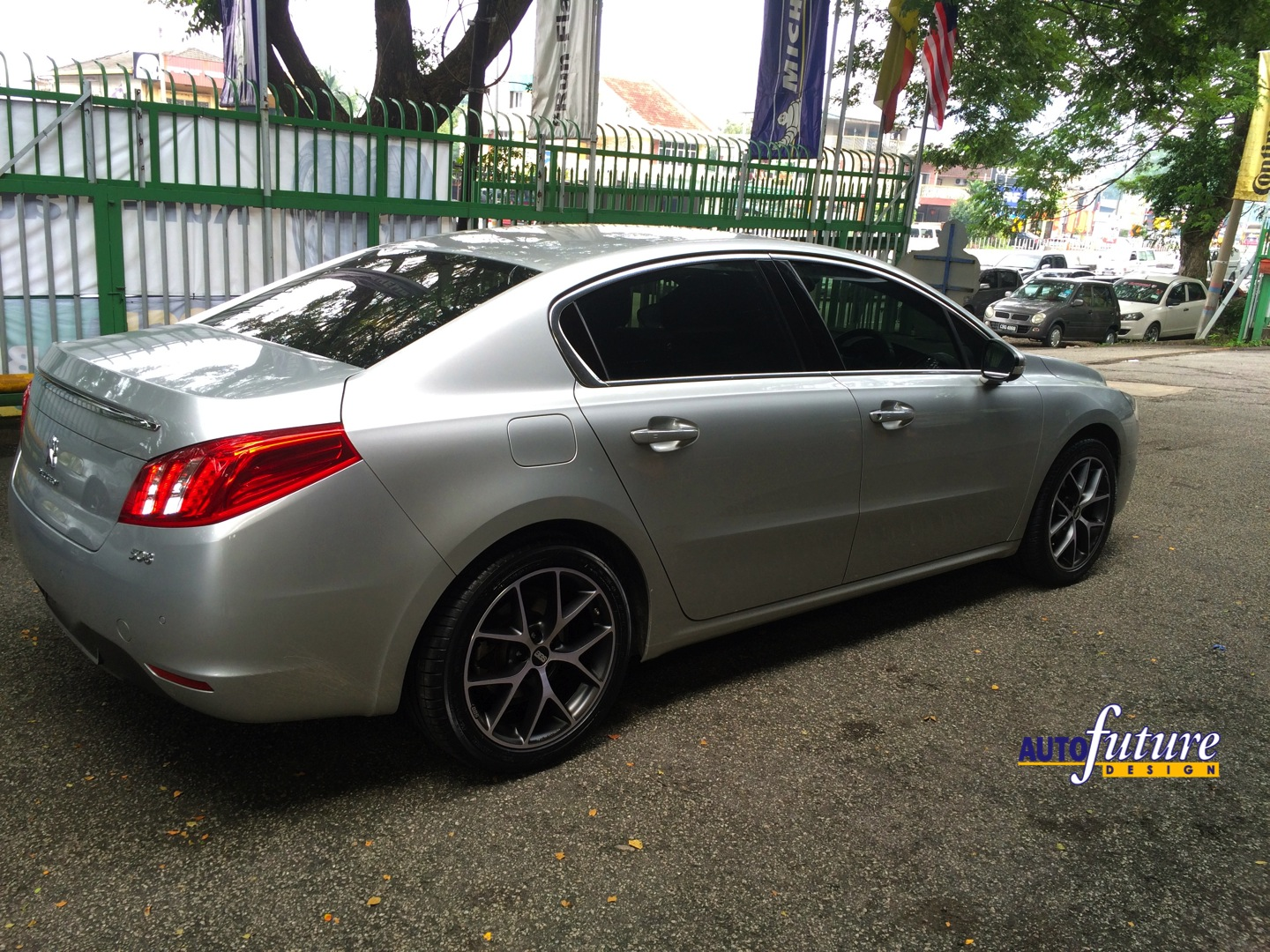 peugeot 508 with bbs sr wheels autofuture design sdn bhd. Black Bedroom Furniture Sets. Home Design Ideas