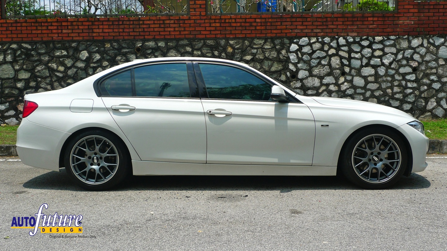 Alpine White Bmw F30 Installed With Bbs Ch R Wheels And