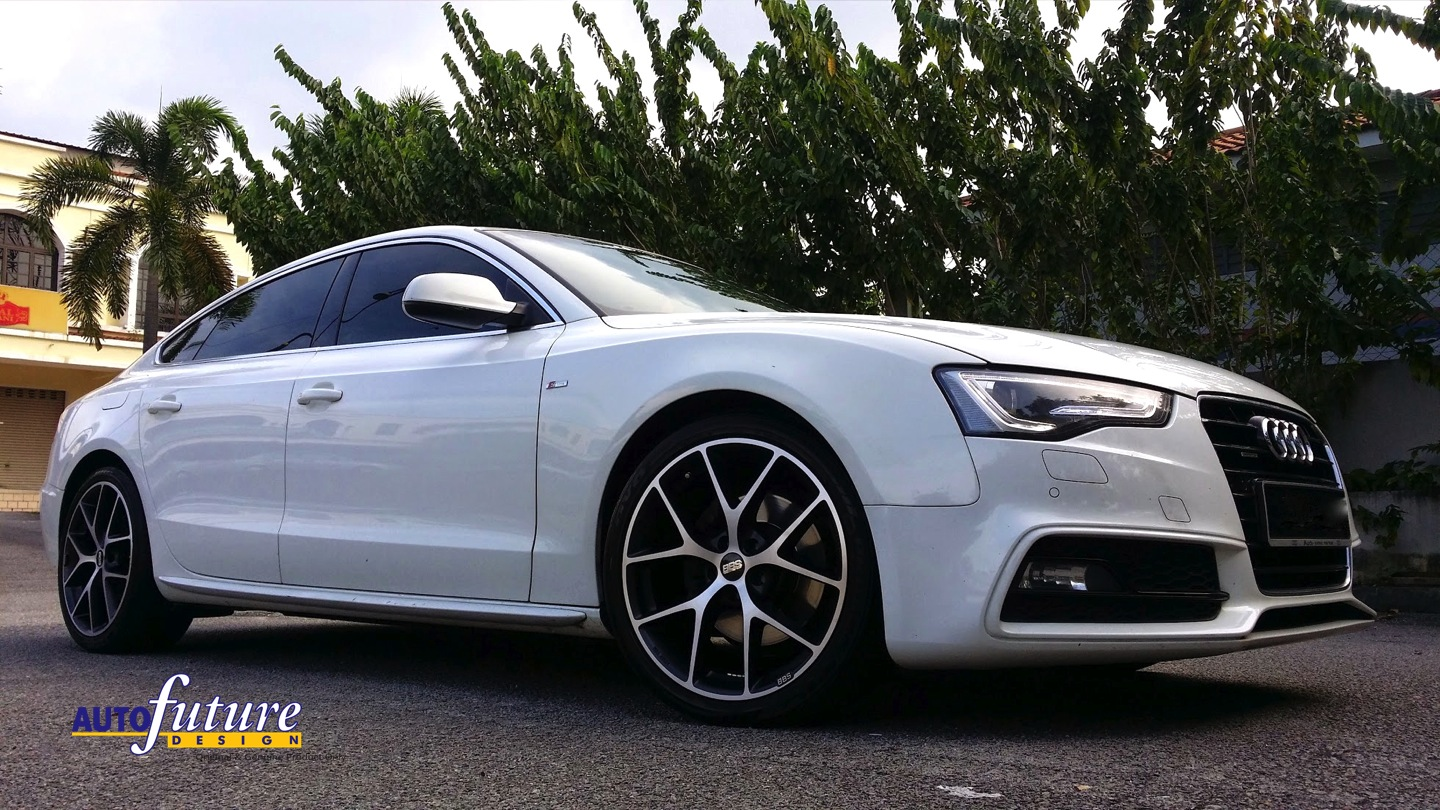 Audi A5 Sportback With Gorgeous Bbs Sr Wheels In Volcano Grey Diamond Cut Finishes
