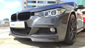 BMW F30 Carbon Makeover Front Lip Focus