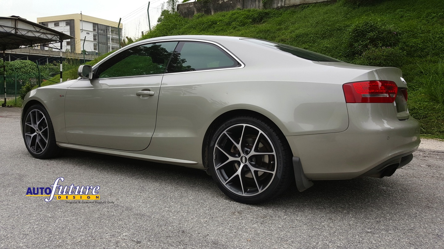 BBS SR Equipped On An Audi A5 | Autofuture Design SDN BHD