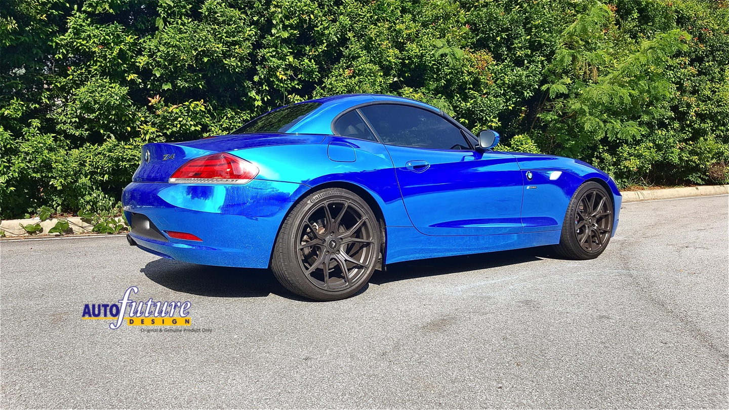 Open Top Cruising Bmw Z4 Equipped With Vorsteiner V Ff 103 Wheels Amp Bilstein B8 Sports