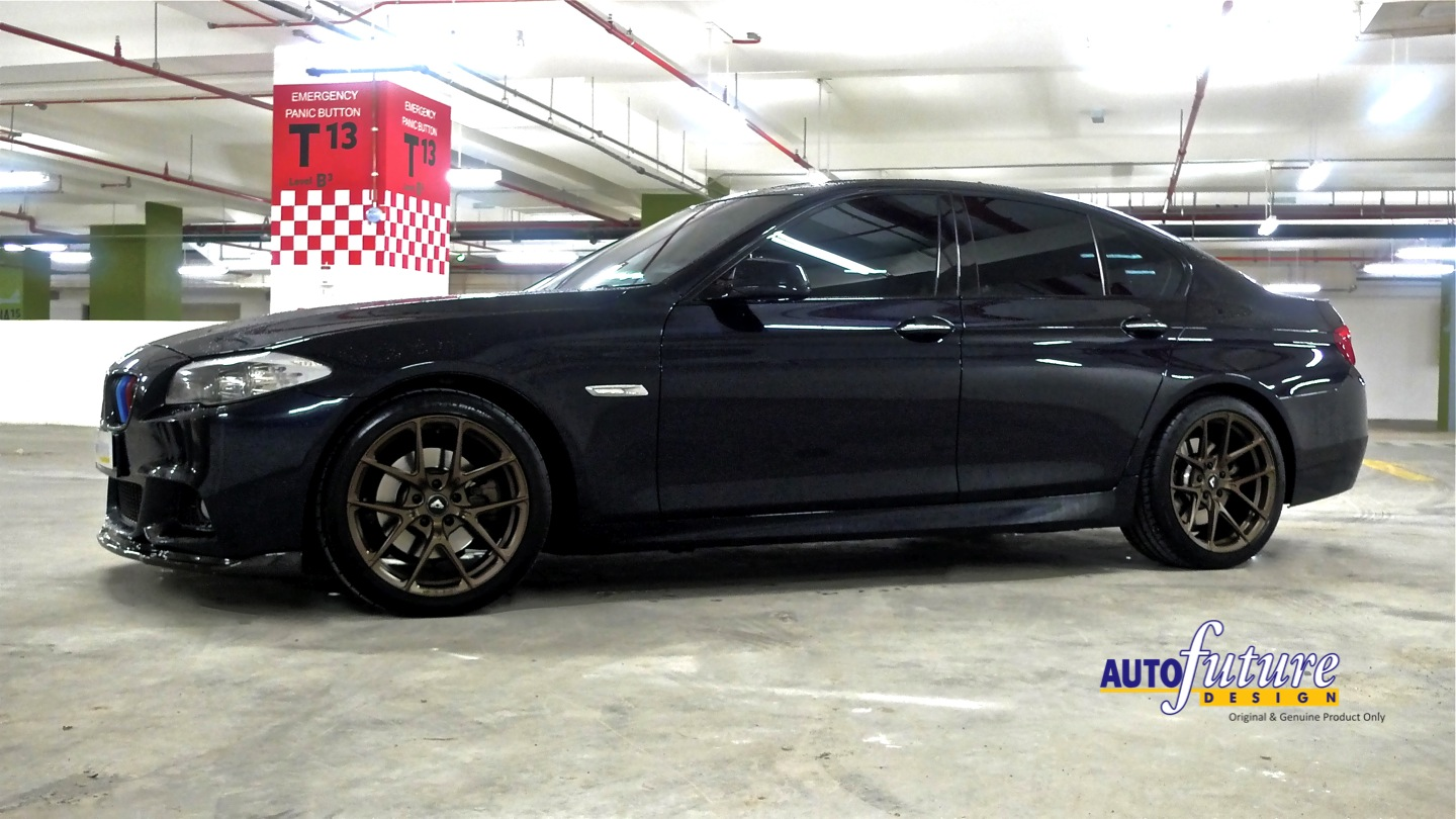 bronzed out alloys bmw f10 5 series equipped with v ff 101 wheels autofuture design sdn bhd. Black Bedroom Furniture Sets. Home Design Ideas
